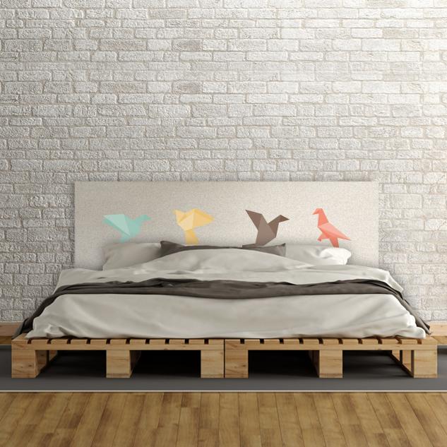 Cabecero de cama de madera
