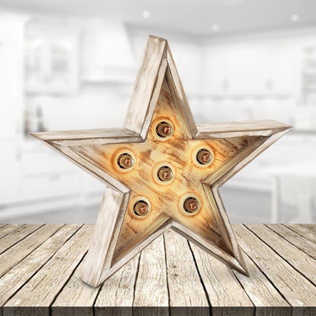Estrella decorativa con iluminación