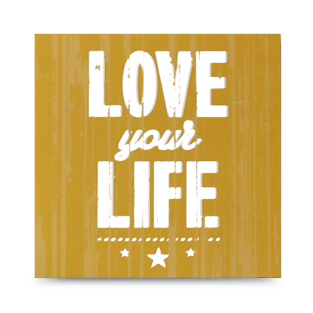 "CARTEL DE MADERA ""LOVE YOUR LIFE"""