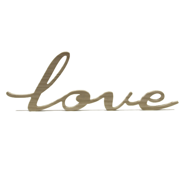 """Love"" DECORATIVO EN MADERA"
