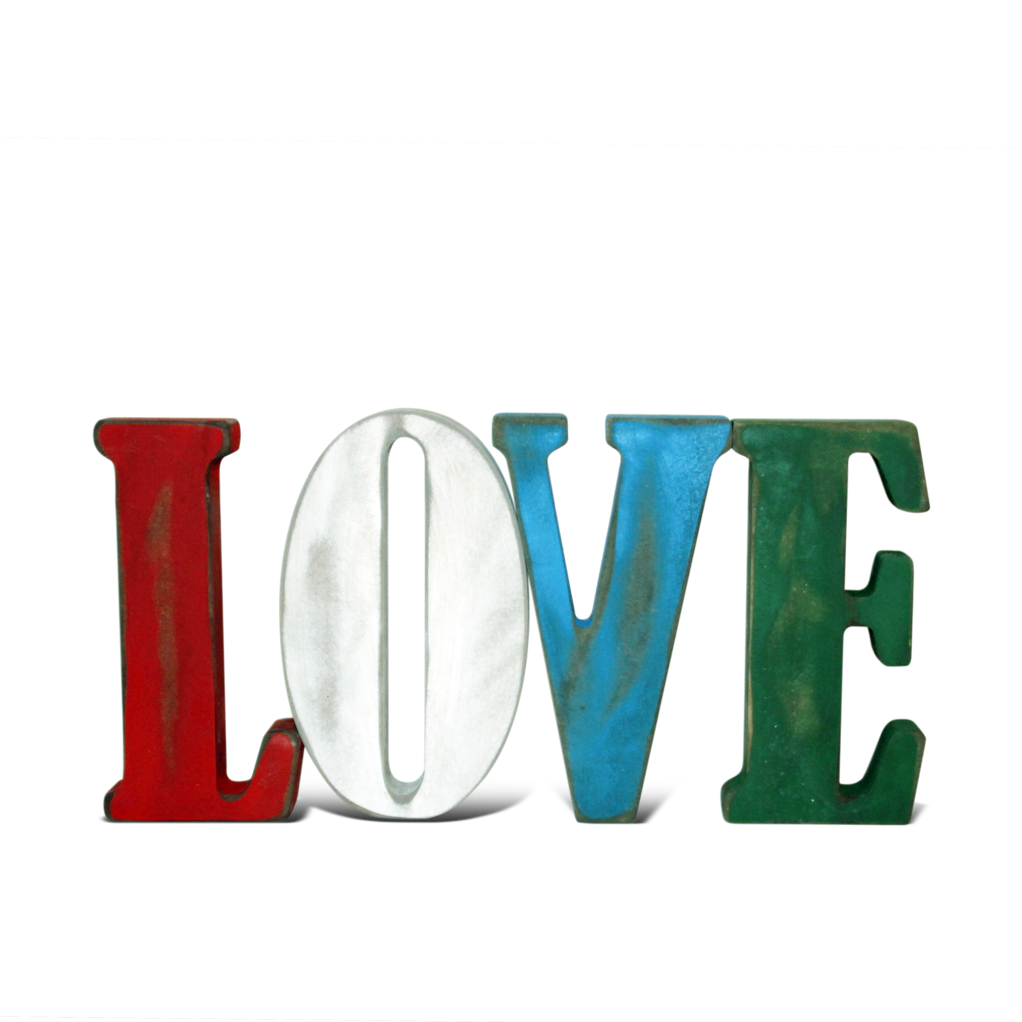 """LOVE"" DECORATIVO DE COLORES"