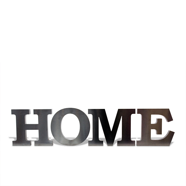 "LETRAS ""HOME"" EN ACERO INOXIDABLE"