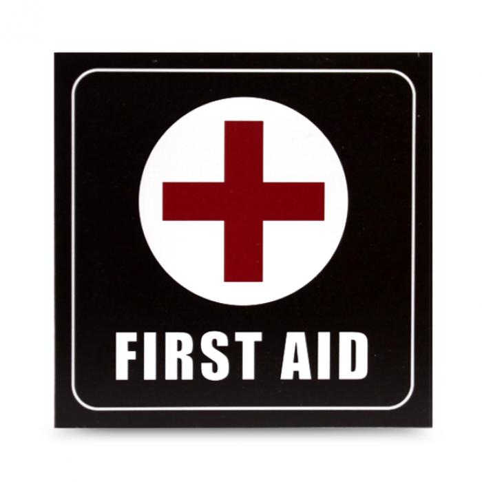 "Cartel madera ""First aid"""
