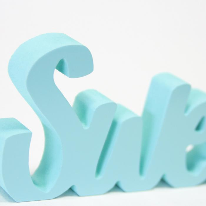 "Letras decorativas ""Sweet"" detalle"