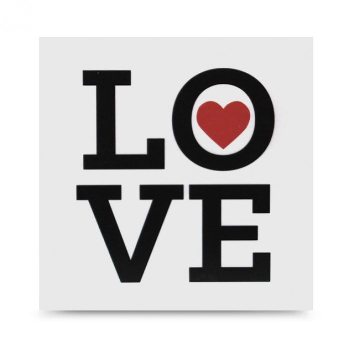 "Cartel decorativo de madera ""Love"""