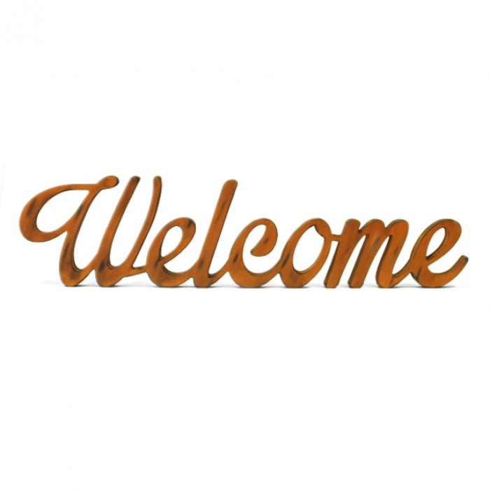 "Letra decorativa ""Welcome"" naranja vintage"